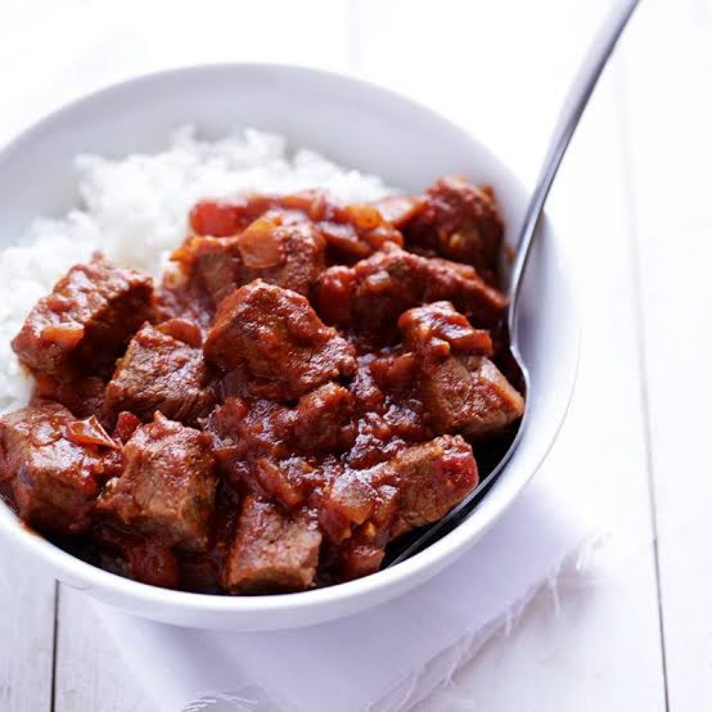 Beef Vindaloo menu