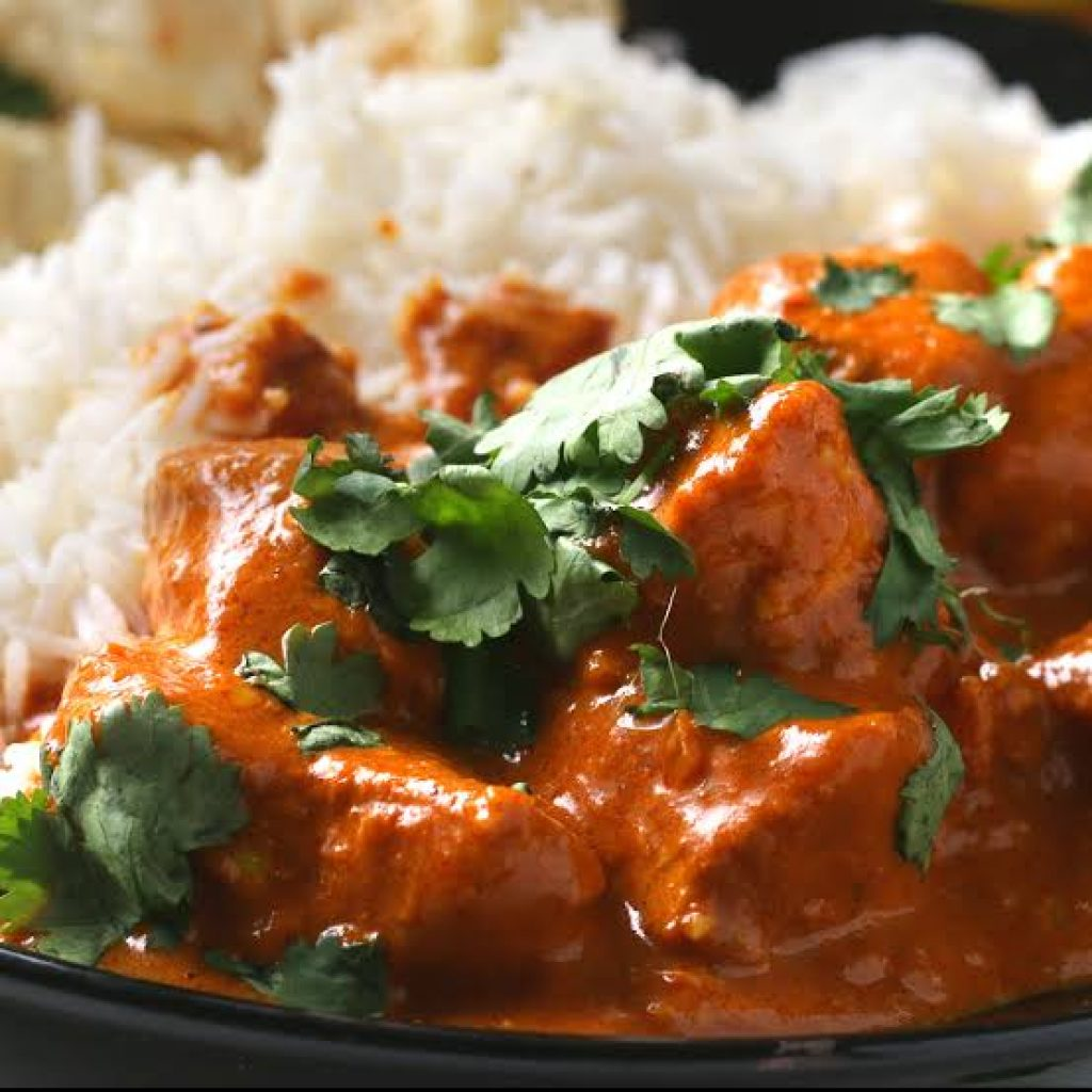 Chicken Tikka Masala menu